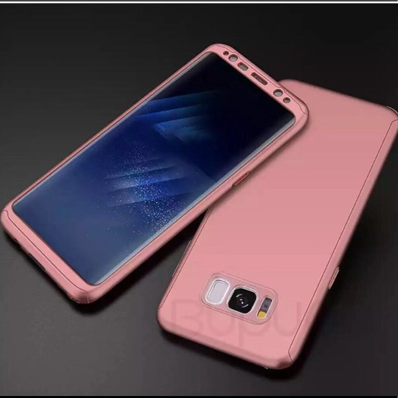 Galaxy S8 Plus Rose Gold 360 Protection Case Boutique